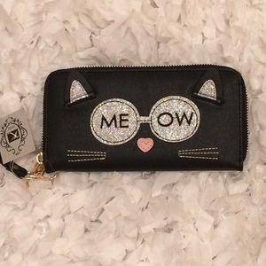 Handbags - MEOW wristlet.....12 card slots ,coin area,2 bill